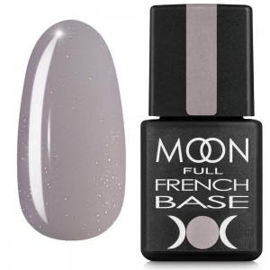 Гель-лак Full MOON Baza French 8 мл №17 сірий з дрібним шимером