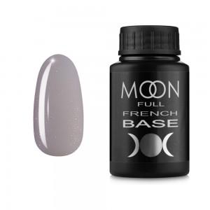 Гель-лак MOON Full Baza French 30 мл №17 серый с мелким шиммером