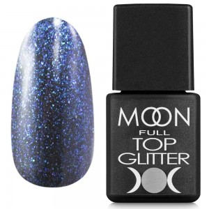 MOON FULL Top Glitter №04 Blue