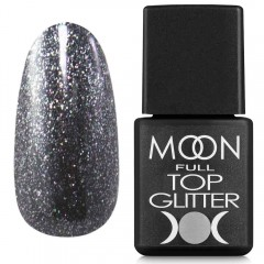MOON FULL Top Glitter №3 Silver