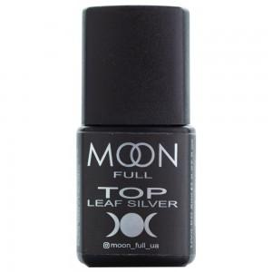 Заказать MOON FULL Toп Leaf Silver 8 мл без липкого шару недорого