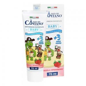 Зубна паста для дітей BABY 3 + Полуниця Pasta del Capitano