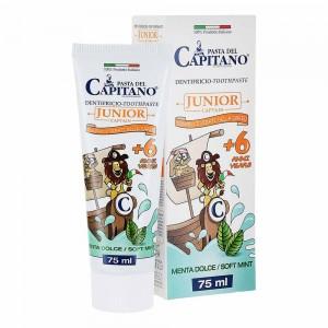 Зубна паста для дітей Junior 6+ М'яка м'ята Pasta del Capitano