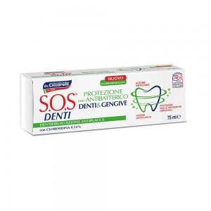 Зубна паста SOS Denti Protection with chlorhexidine Антибактеріальна з хлоргексидином Pasta del Capitano
