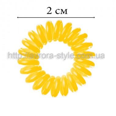 Резинка для волос силиконовая, жёлтая
